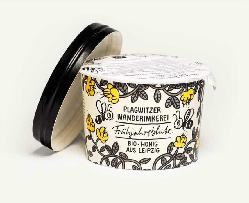 Pappbecher – Bio Honig aus Leipzig